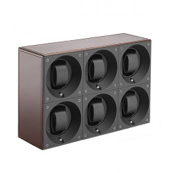 SwissKubik MasterBox 6 Watch Winder - Leather
