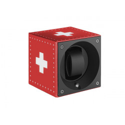 Watchwinder for a watch Swiss Kubik Swiss Flag