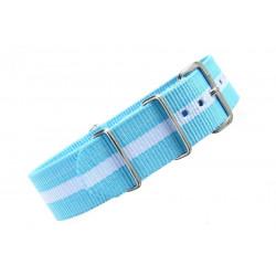 Watch NATO strap white/blue