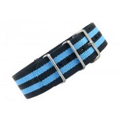Watch NATO strap Black/Blue