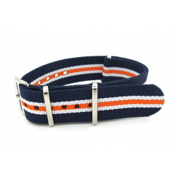 Watch NATO strap blue/white/orange