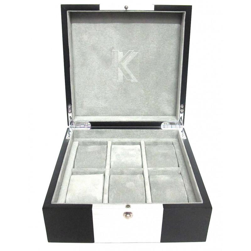 KronoKeeper watch box in matt wood for 6 watches
