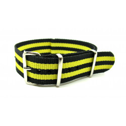 Watch NATO Strap black/yellow