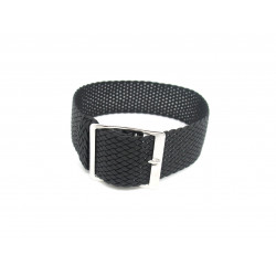 Watch perlon strap black