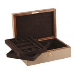 Giobagnara Platinum Jewellery Box with 2 Trays