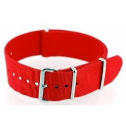 Red NATO watch strap