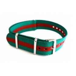 Watch NATO strap Green/Red