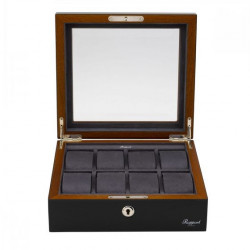 Rapport London High Gloss Black Watch Collector Box for 8 watches