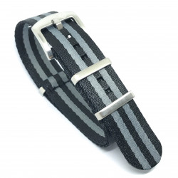 Seat Belt Nato - Black/Grey