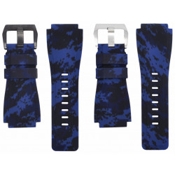 Horus Camouflage Rubber for Bell&Ross digital blue