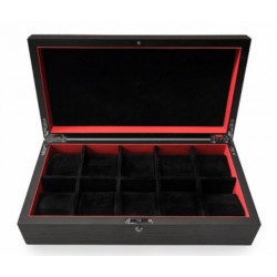 KronoKeeper black Ash 10 watch box