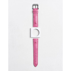 Camille Fournet strap Oostrich pink