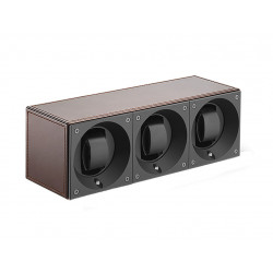 SwissKubik MasterBox Trio 3 Watch Winder - Leather
