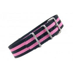 Watch NATO strap Black/Pink