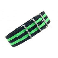 Watch NATO strap Black/Green