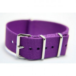Watch NATO strap purple