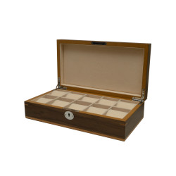 Clipperton 10 watch box in brown wood