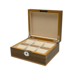 Clipperton 6 watch box in brown wood