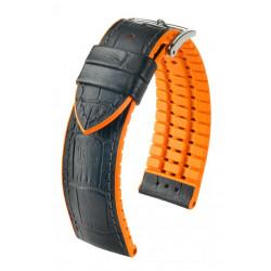 Andy Hirsch Watch Strap Black/Orange