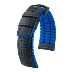 Ayrton Hirsch Watch Strap Black/Blue