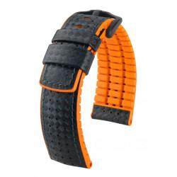 Ayrton Hirsch Watch Strap Black/Orange