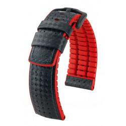 Ayrton Hirsch Watch Strap Black/Red