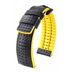 Ayrton Hirsch Watch Strap Black/Yellow