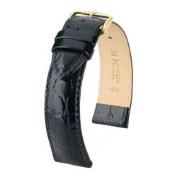 Crocograin Hirsch Watch Strap Black