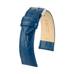 Crocograin Hirsch Watch Strap Blue