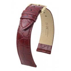 Crocograin Hirsch Watch Strap Burgundy