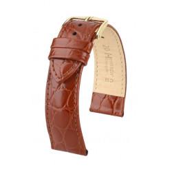 Crocograin Hirsch Watch Strap Golden Brown