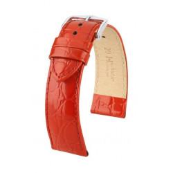 Crocograin Hirsch Watch Strap Red
