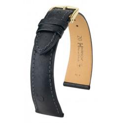 Massai Ostrich Hirsch watch strap Black