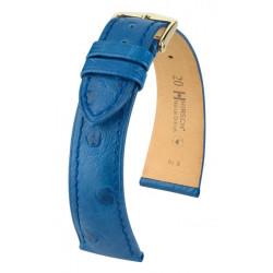 Massai Ostrich Hirsch watch strap Blue