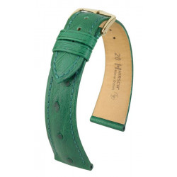 Massai Ostrich Hirsch watch strap Green
