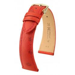 Massai Ostrich Hirsch watch strap Red