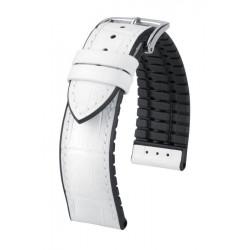 Paul Hirsch Watch Strap White/ Black