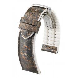 Stone Hirsch Watch Strap Grey/White