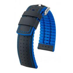Watch strap Robby Hirsch Black/Blue