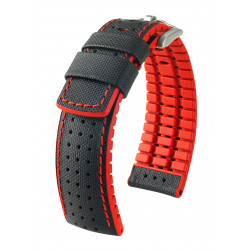 Watch strap Robby Hirsch Black/Red