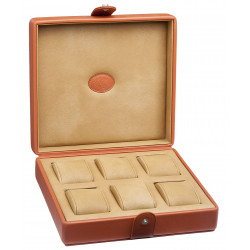 Watch case Underwood London leather for 6 watches