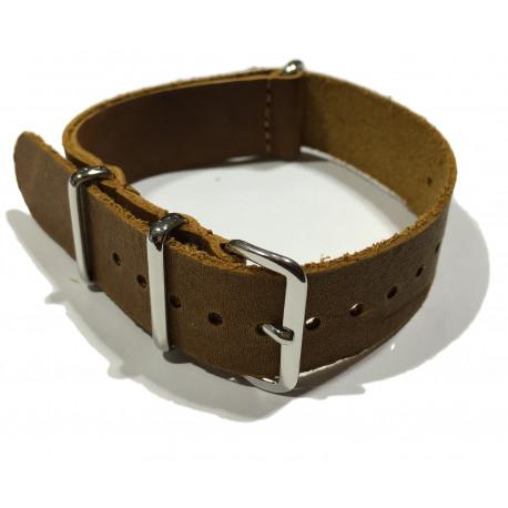 Leather NATO strap LN170