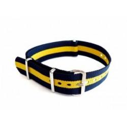 Bracelet nylon NATO Bleu/Jaune