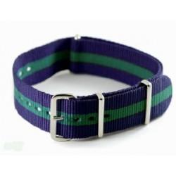 Bracelet nylon NATO Bleu/Vert