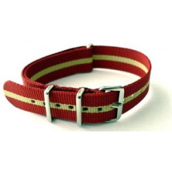 Bracelet nylon NATO Rouge/Sable