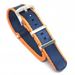 Seat Belt Nato - Orange/Dark Blue