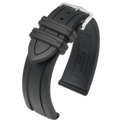 Hevea Hirsch Watch Strap Black
