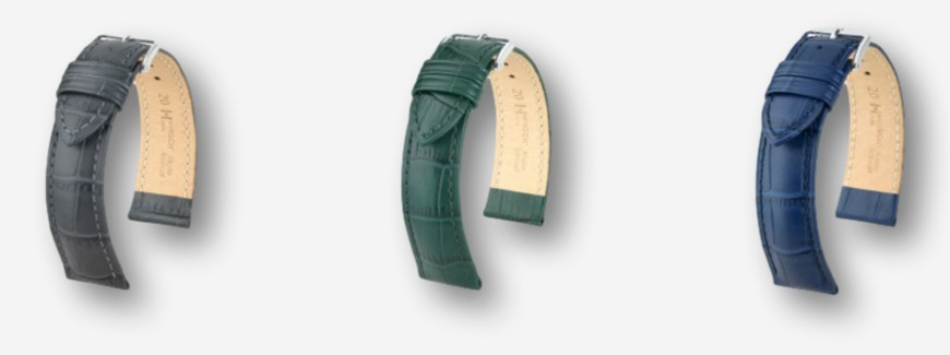 Embossed watch straps