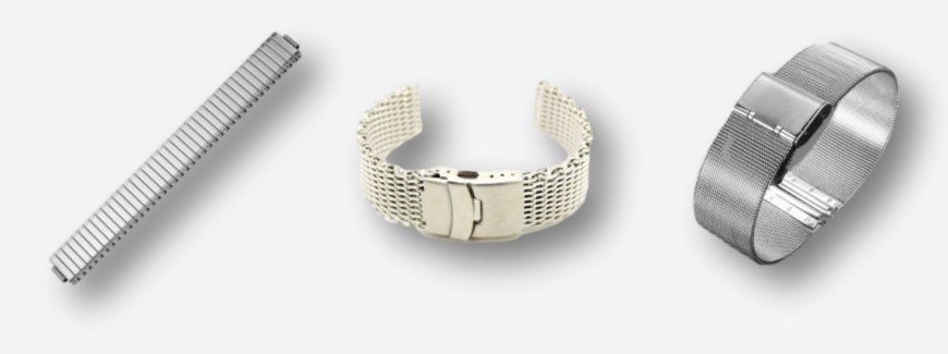 Metal watch bracelets
